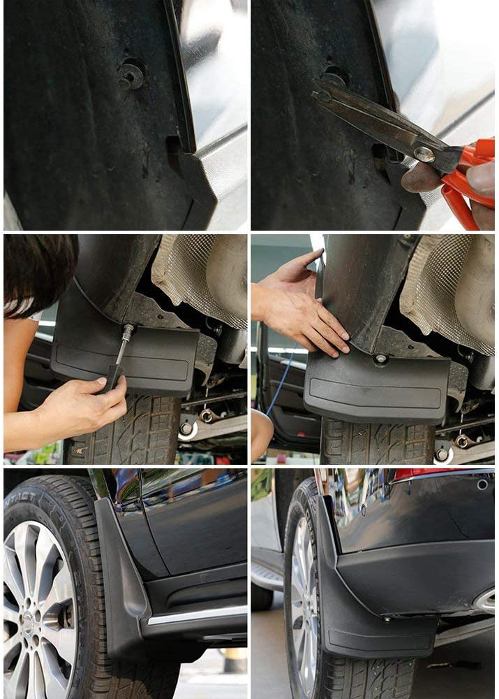 Semoic Upgraded Mud Flaps Mud Guards for Vauxhall Astra J//Verano 2010-16 Splash Guards Mudguard 4Pcs