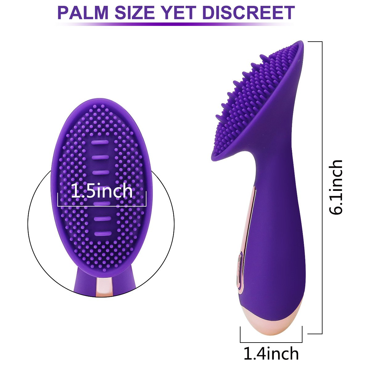 Tongue Vibrator for Clit G SpotStimulation with Soft Silicone Ticklers for Women, PALOQUETH Innovative Oral Sex Simulator Licking Adult Toy 8 Strong Vibration Modes,Quiet Rechargeable Waterproof by PALOQUETH (Image #6)