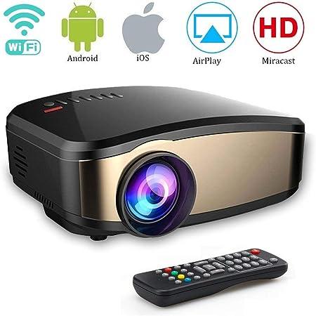WOLJW HD Video 1080P Mini Proyectores WiFi Proyector de películas portátil para Cine en casa al Aire Libre PC / PS4 / HDMI/VGA/TF/AV/USB: Amazon.es: Hogar