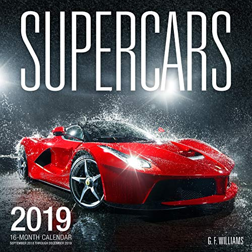 Supercars 2019: 16 Month Calendar September 2018 Through December 2019