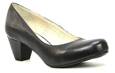 7f364ef43cca8 Amazon.com | O.G.S. Wide Shoes Women's Aneliya Nero Leather Pumps ...