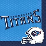 "Sports and Tailgating NFL Party Tennessee Titans Luncheon Napkins Tableware, Paper, 6"" x 6"", Pack of 16"