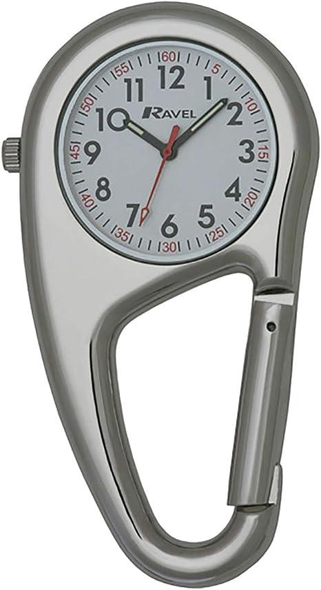 Ravel - Reloj de Cuarzo mosquetón con Clip para el cinturón