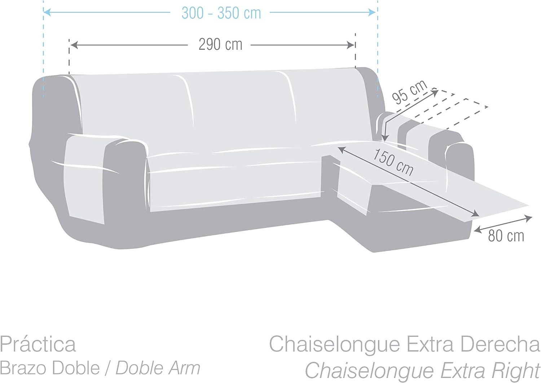 290 cm Marrone Eysa Italia Zoco Chaise Longue Destra Vista Frontale Poliestere-Cotone
