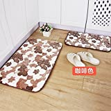 HOMEE Carpet-Mat Door Mat Kitchen Mat Bathroom Living Room Antiskid Mat,Blue,500&Times;800Mm,400×1200Mm,Coffee