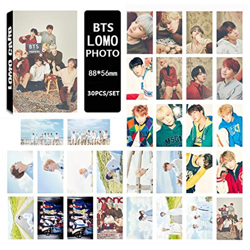 Jiquan Kpop BTS LOMO Cards Bangtan Boys Photocard Collection Set for A.R.M.Y 30pcs/Set (Trading Box Set Card)