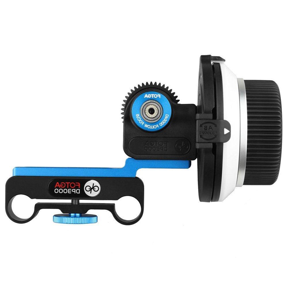 FOTGA DP3000 M1 DSLR Follow Focus with Flexible Gear Belt for 15mm Rail Rod Rig for DSLR HDSLR DV 5D II III IV 6D 7D 70D 60D D7100 D500 A7 A7R A7S II III A9 GH4/5/5s by FOTGA
