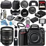 Nikon D750 DSLR Camera 1543 AF-S 24-120mm f/4G ED VR Lens 2193 + 77mm 3 Piece Filter Kit + Carrying Case + 256GB SDXC Card + Card Reader + Professional 160 LED Video Light Studio Series Bundle