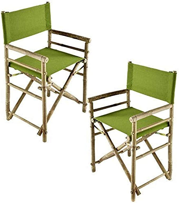 Zew Replacement UV Treated Color Durable Canvas for Bamboo Folding Directors Chairs Red