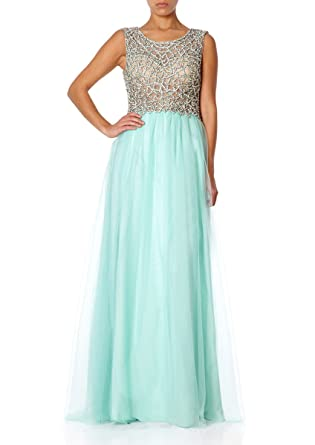 Forever Unique - KAITLYN - Mint Green Maxi Prom Dress 6