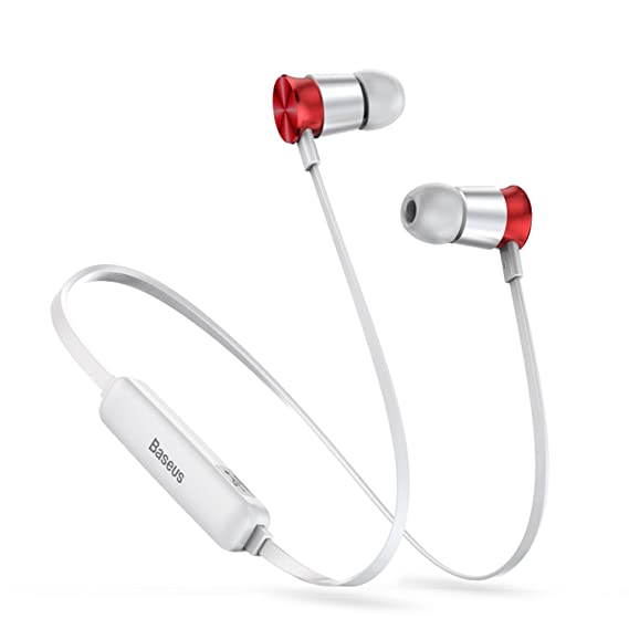 Wireless Bluetooth Headphone Fone de ouvido Sports Headset Stereo Auriculares Earbuds,Silver And Red