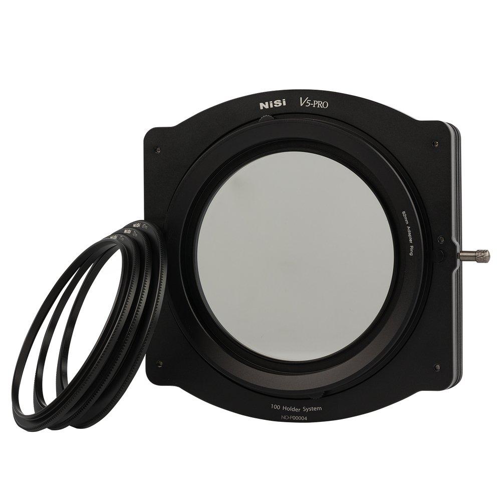NiSi V5 Pro 100mm Filter Kit Holder with CPL & Adapter Rings Black (NIP-100-V5PRO)