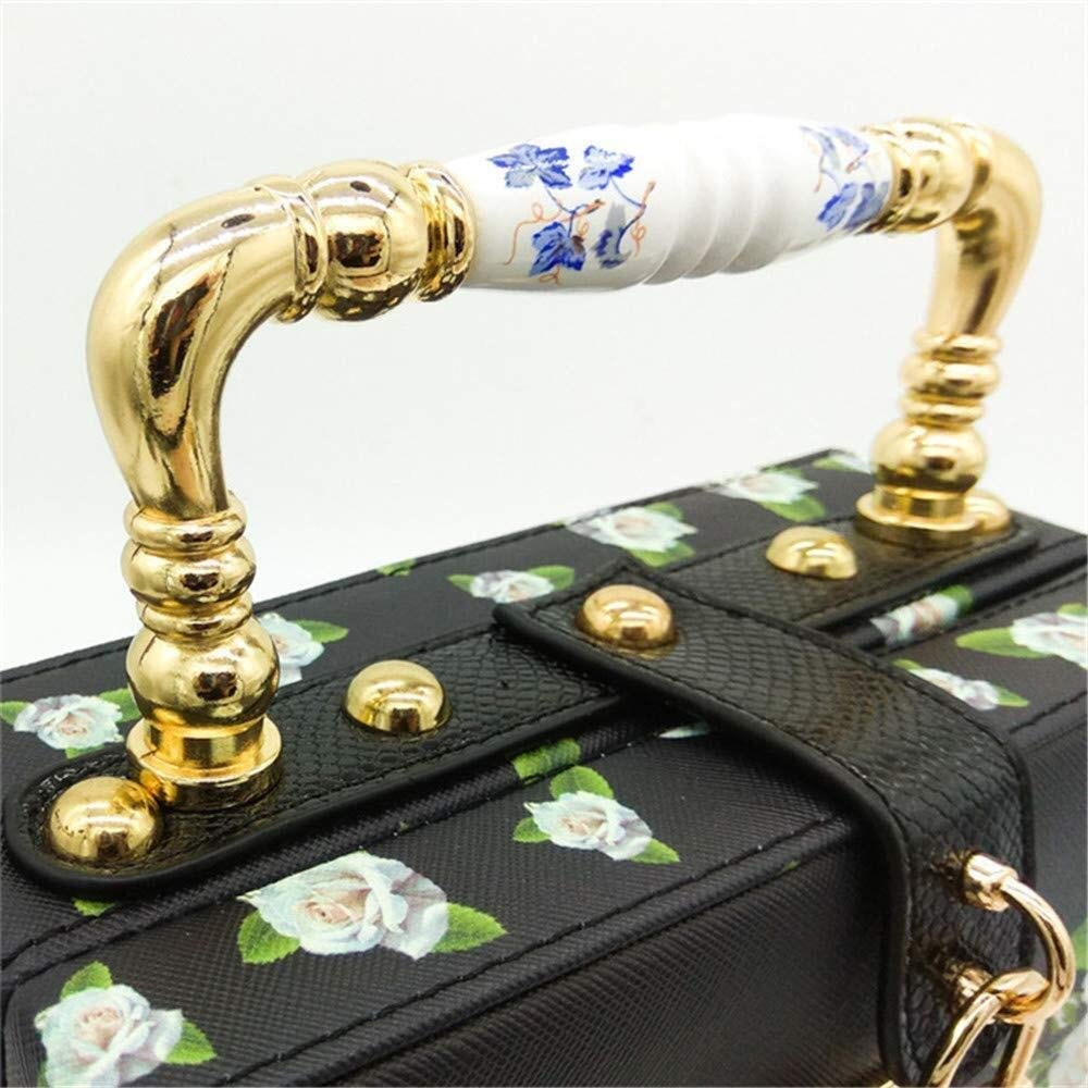 LXDDJsl kvinnor handväska väskor clutches väska för kvinnor kvinnor kvinnor kväll kuvertväska handväska aftonväska, fest, födelsedagsfest Tooy (färg: svart) Svart