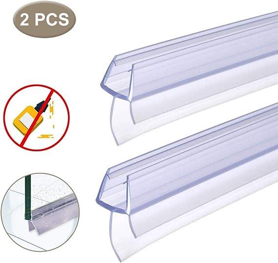 BUZIFU Plástico Mampara Ducha, 2 unids Goma para Mamparas de 100cm ...
