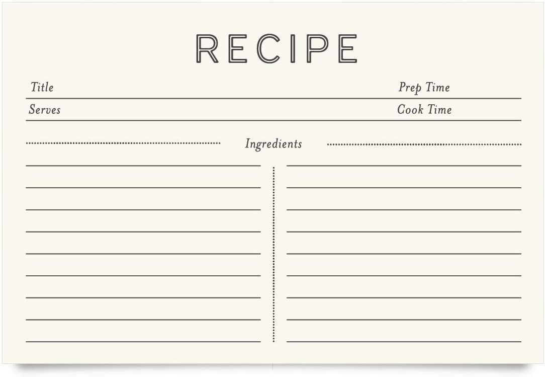 Jot & Mark Recipe Cards 4x6 Inches Double Sided 50 Count (Minimal)