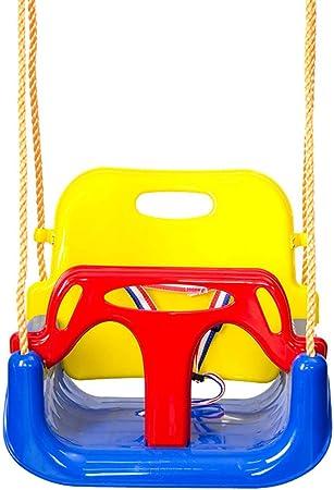 Columpio para Niños Pequeños Cuerda Ajustable Y Cinturón De Seguridad. Juego De Jardin Al Aire Libre: Amazon.es: Hogar