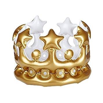 Corona creativo fondo en forma de globo de aire del sombrero del cumpleaños fiesta de cumpleaños Corona inflable decoraciones de oro