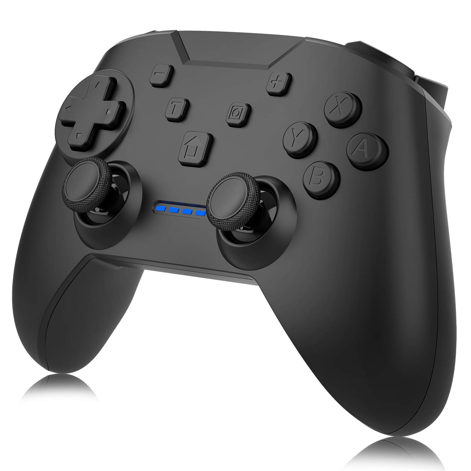 N-intendo Switch Pro Controller - Wireless Controller Remote with Dual Shock, Gyro Axis, Pro Switch Controller Gamepad Compatible with Bluetooth for N-intendo Switch Console (Black)