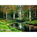 34 Amazing Color Paintings of Efim Volkov - Russian Landscape Painter (March 22, 1844 - February 17, 1920)