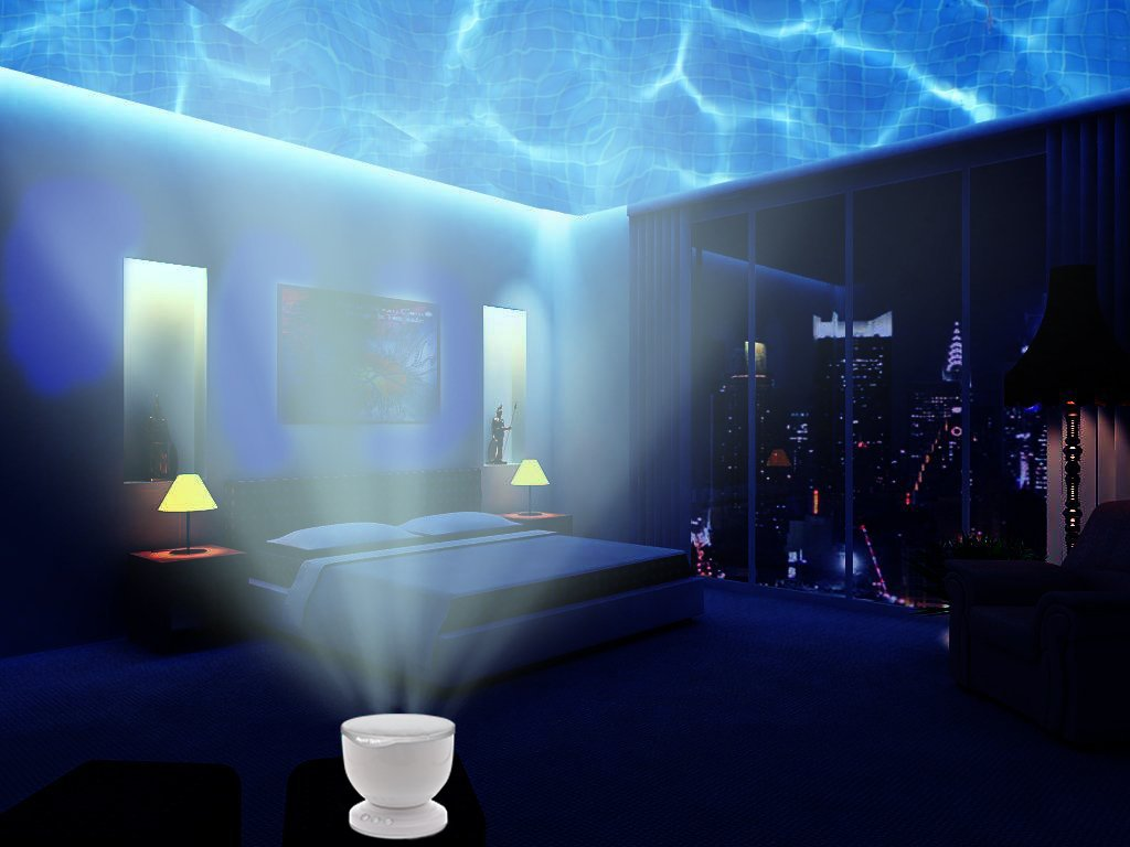 Ocean Wave Night Light Projector & Music Player