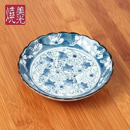 YUWANW Disco De Cerámica Japonesa-Plate Home para Degustar Plato Caliente Pot Salsas Plato Plato