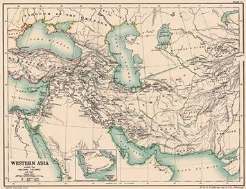 Amazon.com: WESTERN ASIA IN 786 AD. under the Abb?sid Abbasid ...