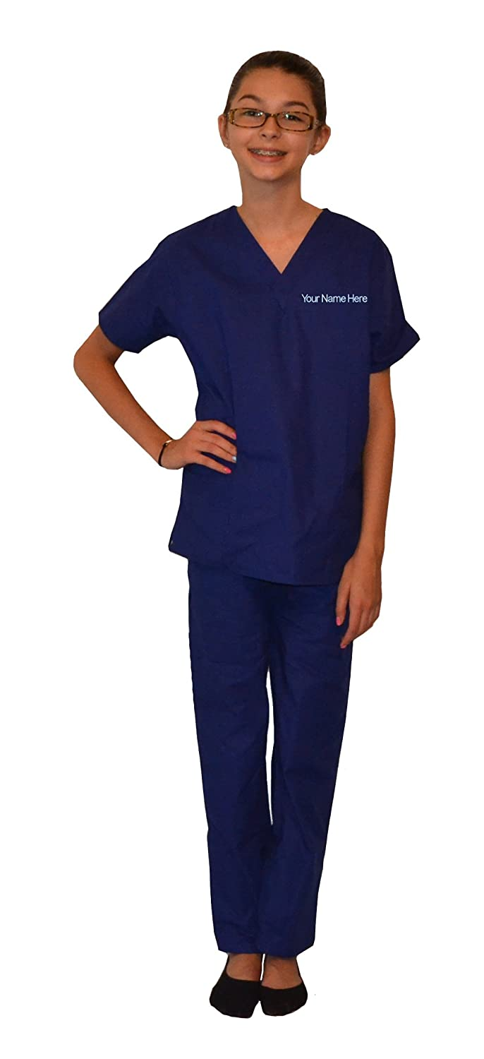 Personalized Royal Blue Kids Scrubs Image 1