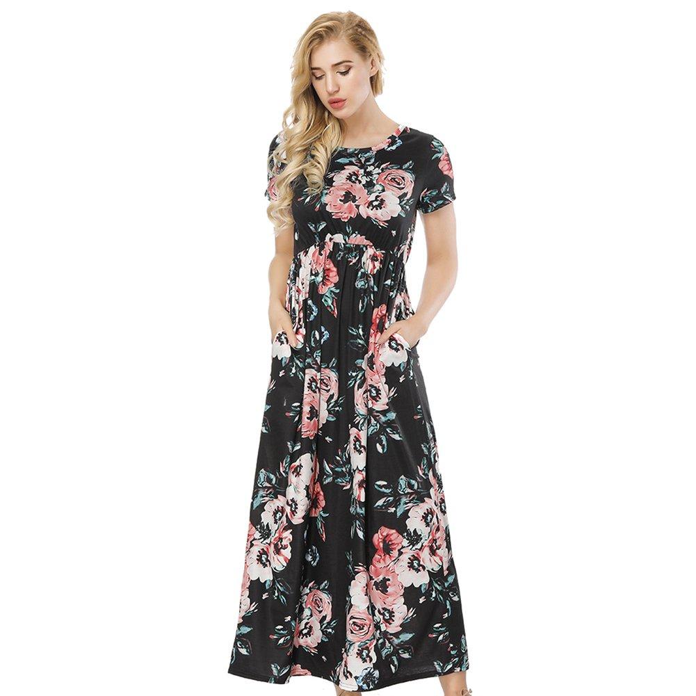 3586b07801 Beautiful Long Sleeve Floral Maxi Dress