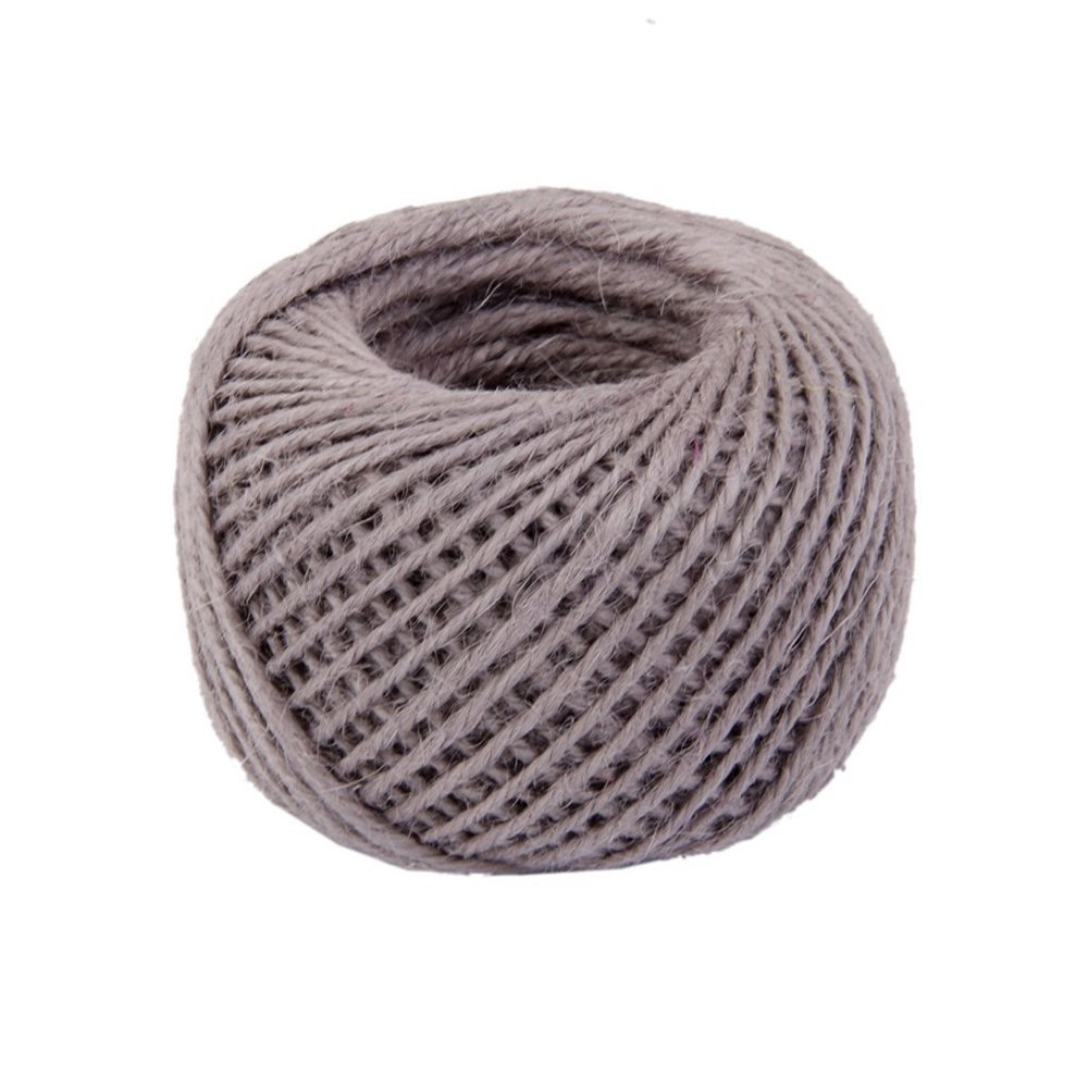 Jooks Hemp Rope Ribbon Twine String Jute Cord Ball For Decoration And Arts Crafts DIY Gift (Grey)