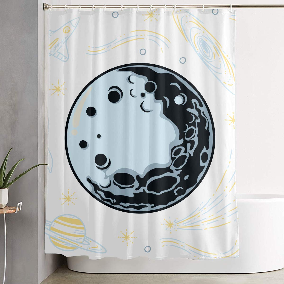 Bathroom Shower Curtain 150*150cm Bath Cutain Waterproof Polyester Fabric