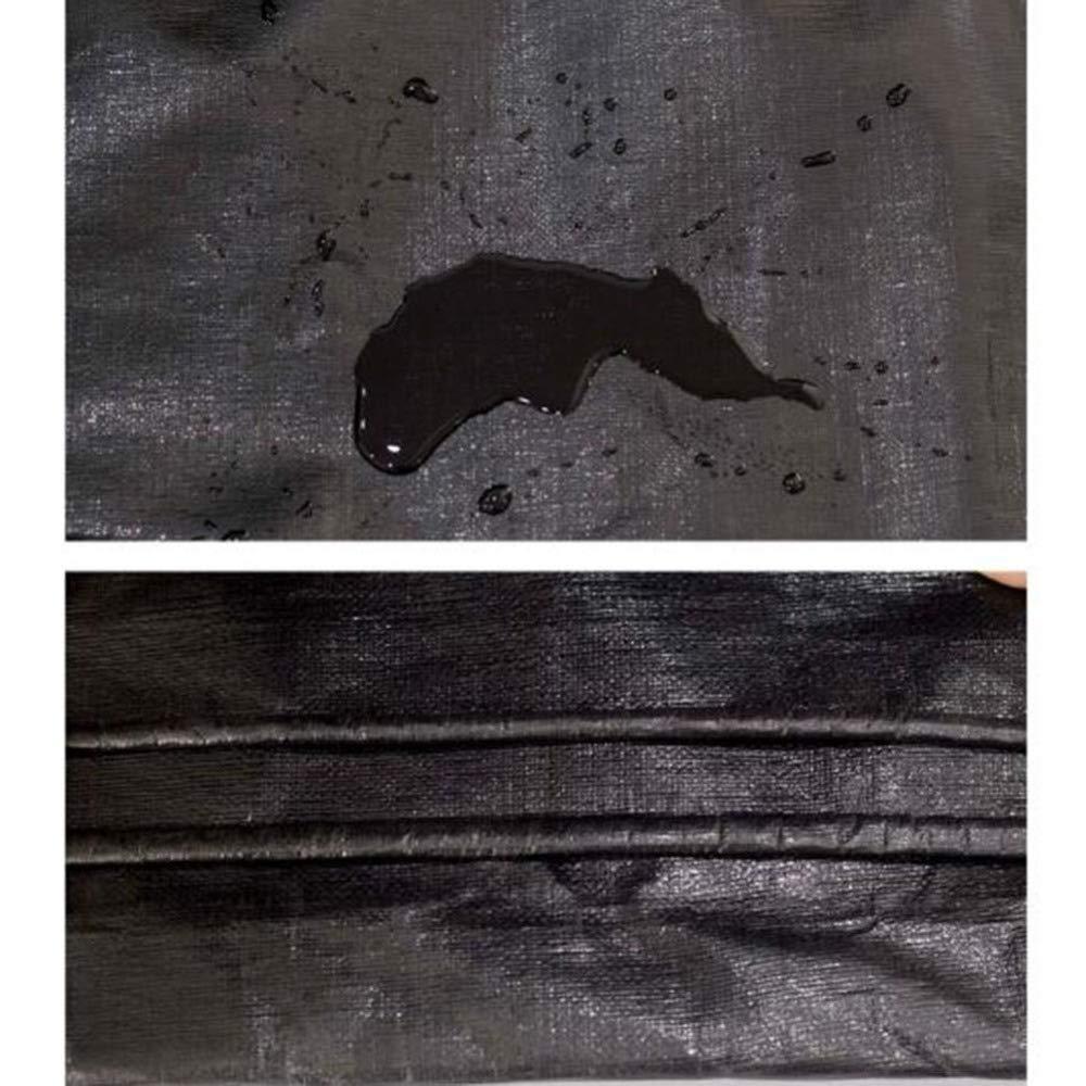Liul Lona Impermeable Tela Impermeable Cubiertas De La Hoja Hoja Hoja De Tierra Espesar Heavy Duty Al Aire,Negro,Múltiples Tamaños,180G / M²,Negro-6x6m 1ca053