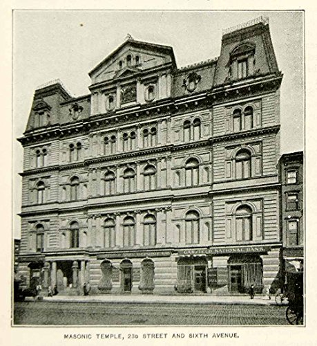 Review 1893 Print Masonic Temple