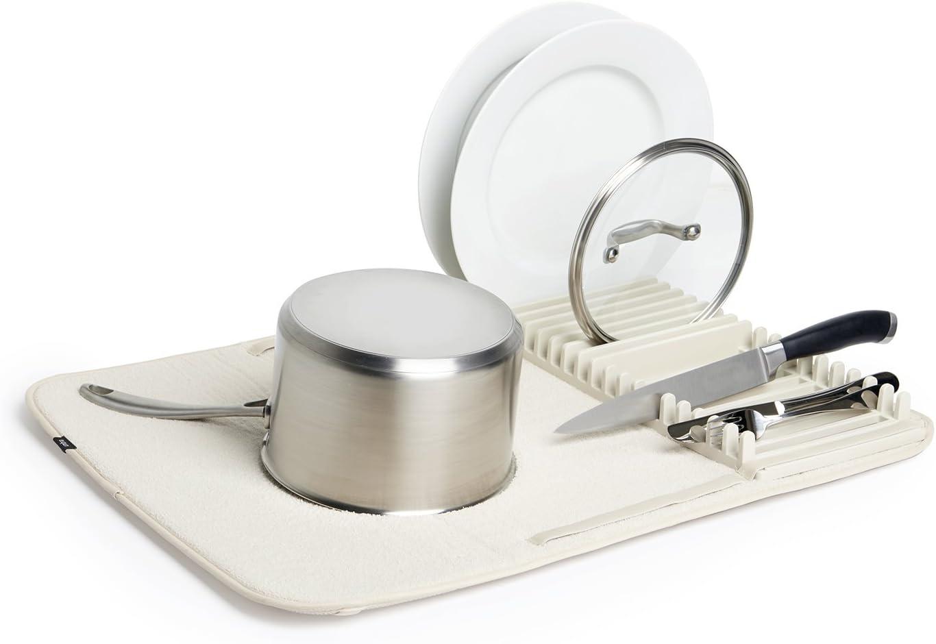 Umbra UDry Dish Drying Rack, 24 x 18, Linen