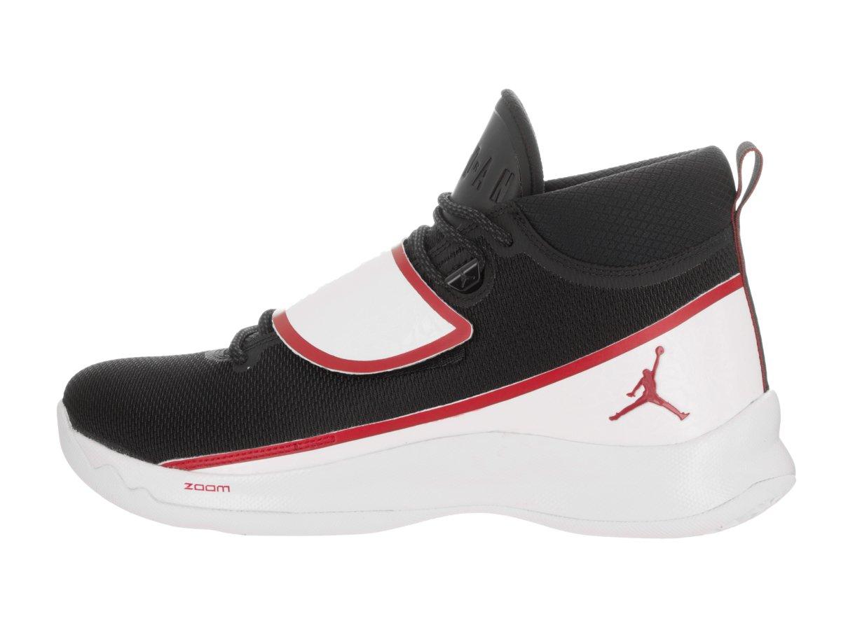 jordanie -   super. voler 5 chaussures, 10 10 10 d (m) - blanc - rouge, noir / gym 75fc91