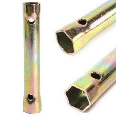 Llave de bujías para coche de la motocicleta profesional 13cm 16 / 18mm (Color: oro): Amazon.es: Bricolaje y herramientas