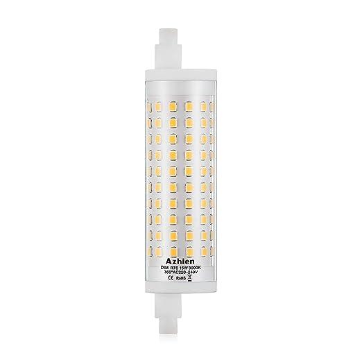 R7S LED 15W 118mm Regulable Lámpara de reflector Azhien, blanco cálido 3000K, 15 vatios