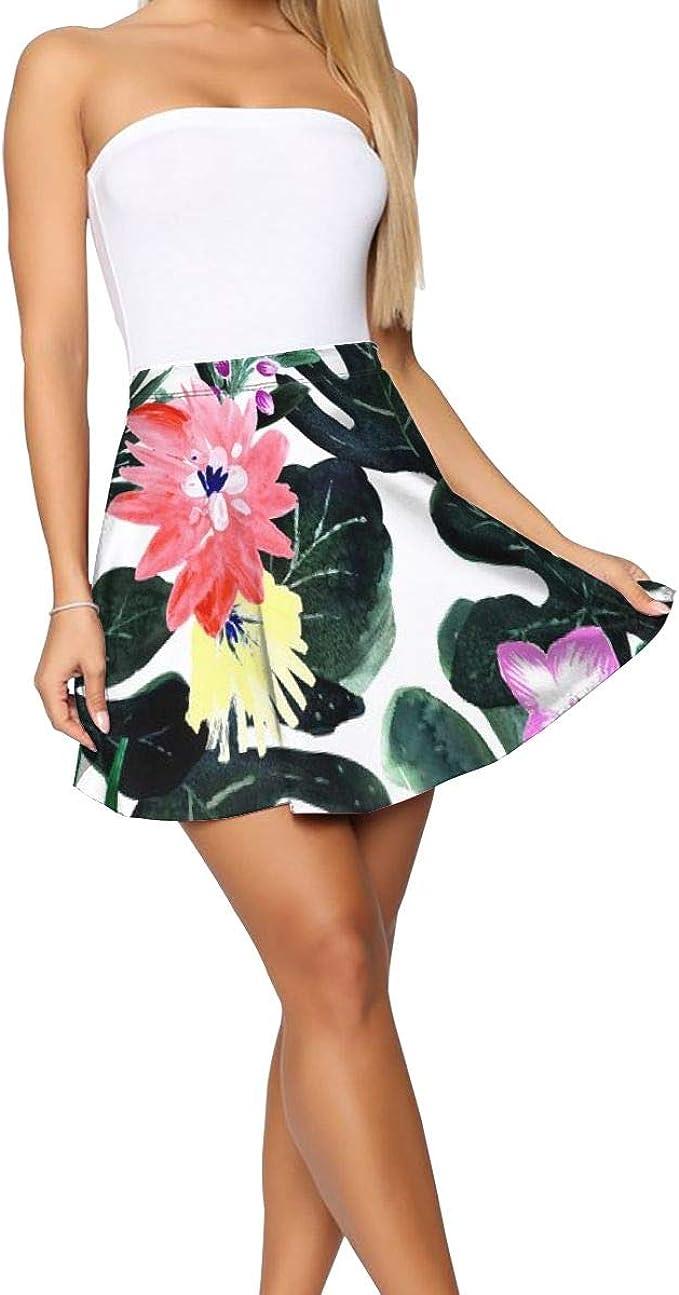 Falda Corta Mujer Verano 2019, Lush Tropical Floral_1111, M ...