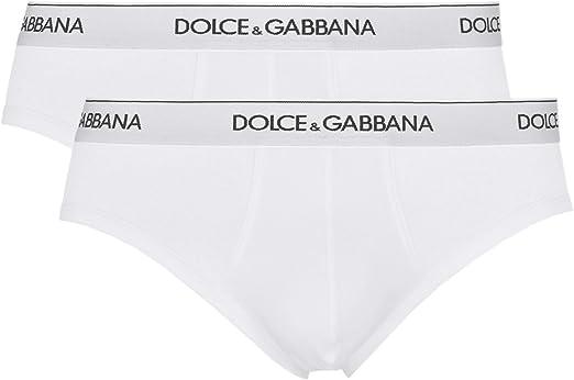 Dolce & Gabbana Día 2-pack De Calzoncillos, Blanco: Amazon.es ...