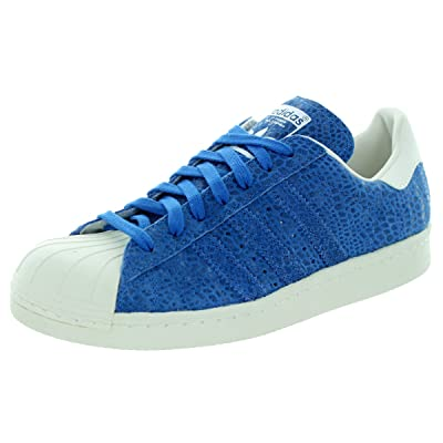 Amazon.com | adidas Superstar 80S Casual Women's Shoes Size 8.5 Blue/White | Fashion Sneakers