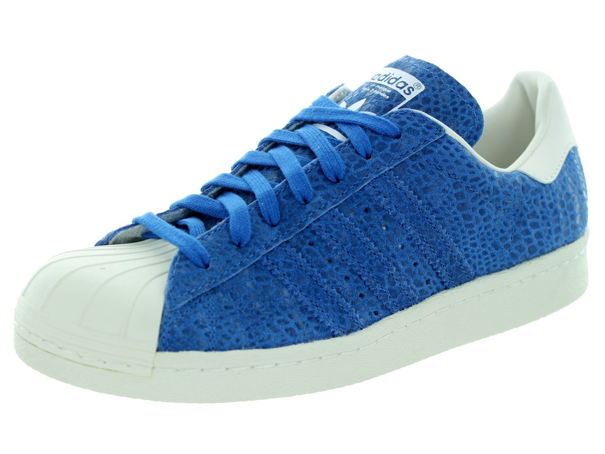 adidas Superstar Casual Women's Shoes B016X80ZES 9 B(M) US|Blue/White