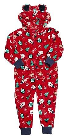 ONEZEE Boys Girls Xmas Nightsuit Sleepwear Hooded Fleece Novelty Snowman  Gift (2-3 Years f1b10b1ca