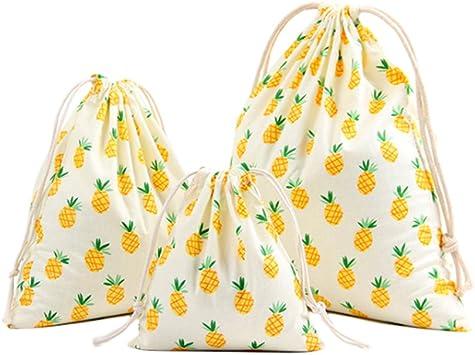 Doitsa - Bolsa con cordón de almacenamiento para casa de viaje de tela de algodón, bolsa de cuerdas, bolsa de ocio, organización todo, blanco: Amazon.es: Deportes y aire libre