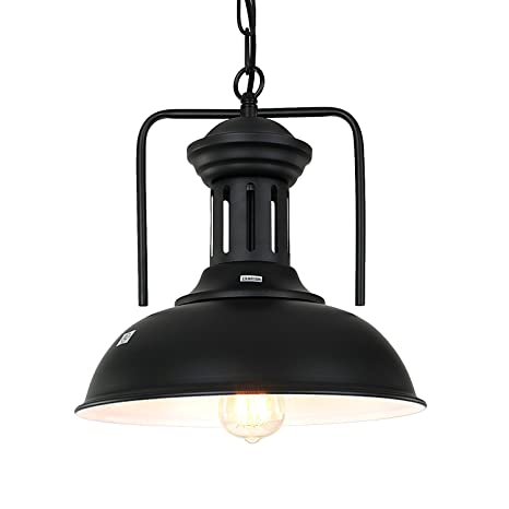 Pauwer Pendant Light Industrial Metal Barn Pendant Light With Dome