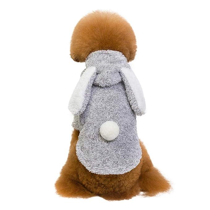Italily Natale Animale Grande Orecchio Coniglio Tinta Unita Cane Cappotto  Fale Tempo Libero Natale Inverno Abiti Puppy Cappotto Caldo Abbigliamento  per Cani ... ac9dcf51102