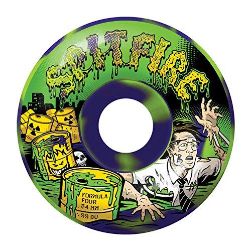 (Spitfire Formula Four Toxic Apocalypse Purple/Green Classic 52mm 99D Skateboard Wheels (set of 4))