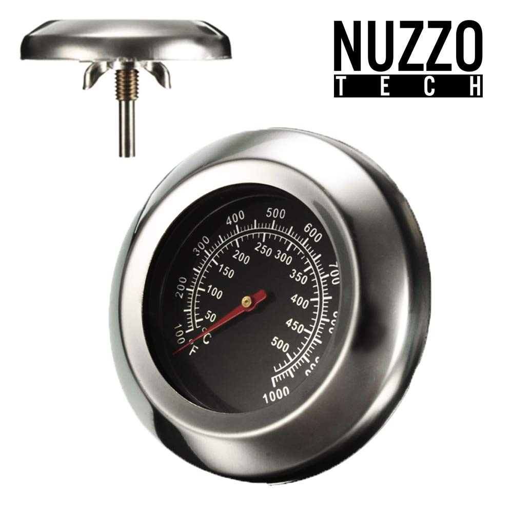 Grill Thermometer Sonde Deckel Temperaturanzeige Ofen 49mmX75mm f/ür Grill//Raucher Ofen//Grill in Edelstahl. Nuzzo Tech