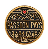 Asilda Store Embroidered Sew or Iron-on Patch (Passion Pays. Photo)