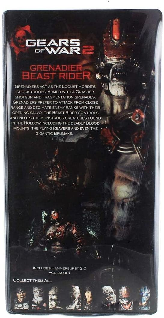 Neca - Gears of War 2: Grenadier Beast Rider 18cm - 0634482521014 ...