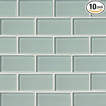 "MS International SMOT GLSST AI8MM Arctic Ice Subway Glass Mosaic Tiles in 12"" Pictures - Luxury Glass Mosaic Wall Tiles Top Search"