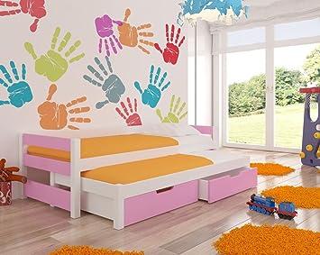 Wonderhome - Cama Nido para niños con colchones y Almacenamiento incluidos, Ideal para niños y niñas, Pinturas ecológicas utilizadas máxima Seguridad: ...